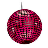 Heart Mirror Ball -White Base Royalty Free Stock Image