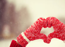 Heart of mittens Royalty Free Stock Photo