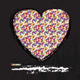Heart modern design background Stock Photography