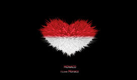 The Heart of Monaco Flag. Royalty Free Stock Photography