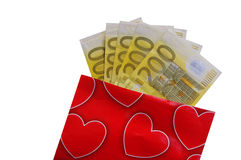 Heart and money Royalty Free Stock Photography