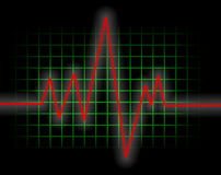 Heart Monitor. An illustration of a waveform from an ekg test Royalty Free Stock Images