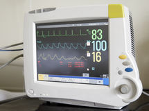 Heart monitor. In the hospital ICU royalty free stock photography