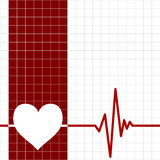 Heart monitor. With heart and ecg chart Royalty Free Stock Image
