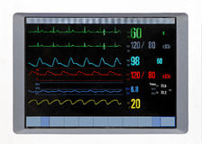 Heart monitor. Heart rate monitor with perfect diagram results Royalty Free Stock Photo