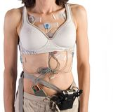 Heart monitor attached to female Patient Royalty Free Stock Photos
