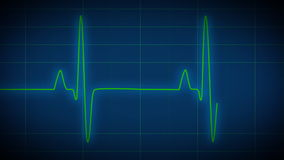 Heart Monitor EKG. Seamlessly looping EKG heart monitor. High quality, full native HD animation royalty free illustration