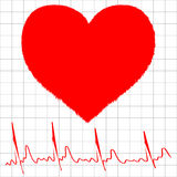 Heart monitor graph Stock Photos