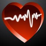 Heart Monitor Pulse. An image of a 3d heart monitor pulse Royalty Free Stock Image