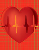 Heart Monitor With Graph Background Royalty Free Stock Image