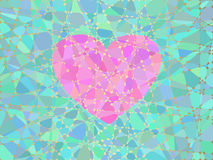 Heart of the mosaic Royalty Free Stock Photography