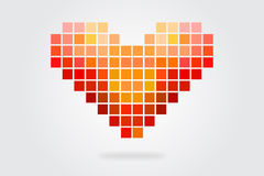 Heart Mosaic Stock Photography