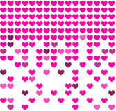 Heart mosaic background Royalty Free Stock Photography