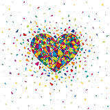 Heart with mosaic pattern Royalty Free Stock Photography