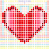 Heart mosaic pattern Royalty Free Stock Photos