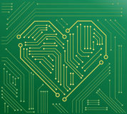 The heart motherboard vector illustration