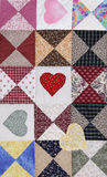 Heart Motif Quilt Stock Photos