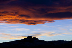 Heart Mountain Wyoming in sunset Royalty Free Stock Image