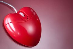 Heart mouse Stock Image