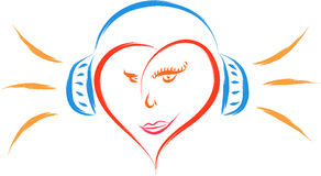 Heart music Stock Photo