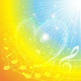 Heart Of Music. Shining theme about love and music Royalty Free Stock Photography