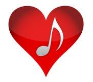 Heart in music Stock Photo