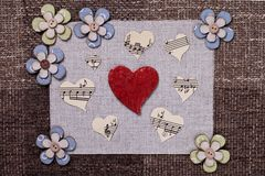 Heart music love background wallpaper design Royalty Free Stock Photo
