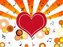 Heart with musical notes Stock Photography