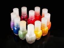 Heart of nail polish Stock Photography