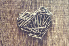Heart of nails Stock Photo