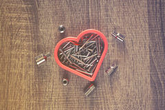 Heart of nails Royalty Free Stock Photos