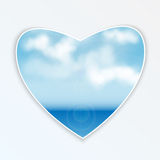 Heart with natural design Royalty Free Stock Image