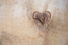 Heart natural. Heart on the wooden background Royalty Free Stock Images