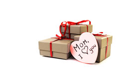 Heart near a box Royalty Free Stock Images