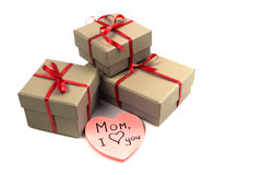 Heart near a box Royalty Free Stock Photos