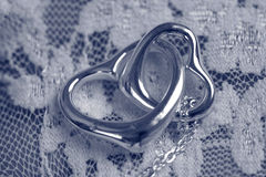 Heart necklace lace glove Stock Photography