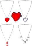 Heart necklaces and Broach Royalty Free Stock Image
