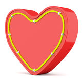 Heart with neon glow Royalty Free Stock Image