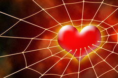 Heart in net Stock Photography