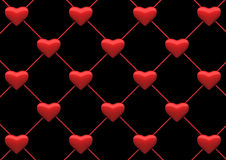 Heart net background. Heart background with clipping path. 3d render stock illustration