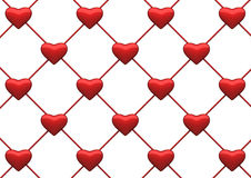 Heart net background. Heart background with clipping path. 3d render royalty free illustration