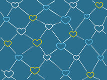 Heart network background Stock Photo