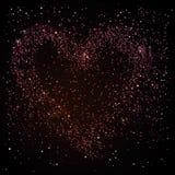 Heart in the night sky Royalty Free Stock Photos