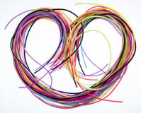 Heart of non-ferrous wires stock photography