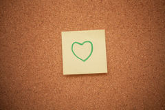 Heart note on cork board Stock Photography
