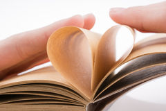 Heart on notebook Royalty Free Stock Image