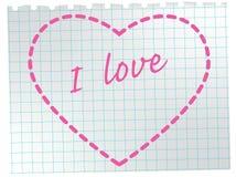 heart notepad sheet Иллюстрация штока