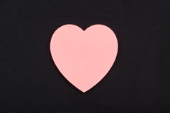Heart notepaper Stock Image