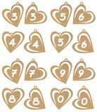 Heart numbers Stock Photo
