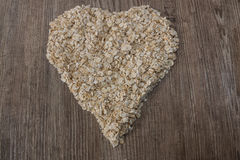 Heart of oat flakes Royalty Free Stock Image